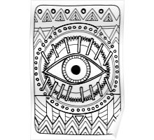 All Seeing Eye - Mono Poster