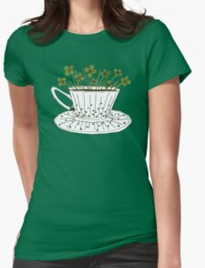 Lucky Cup of Clovers Womens Fitted T-Shirt