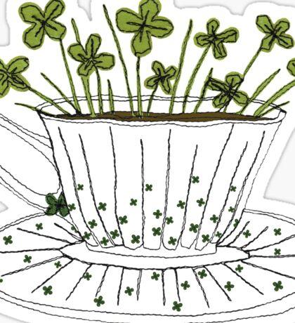 Lucky Cup of Clovers Sticker