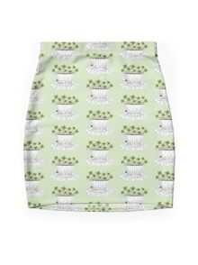 Lucky Cup of Clovers Mini Skirt