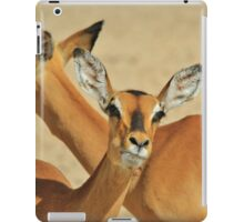 Impala - Funny Nature - African Wildlife Background iPad Case/Skin
