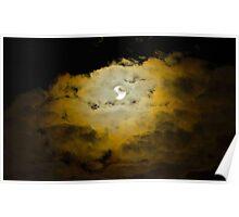 Moody Moon Sky Poster