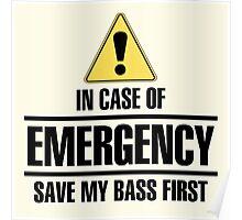 Save my bass (black) Poster