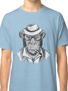 Hipster monkey with hat Classic T-Shirt
