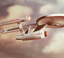 USS Enterprise by TJDraws