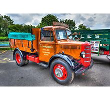 Bedford Dropside Tipper Truck Photographic Print