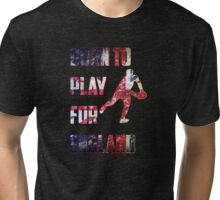 Born to Play For England Rugby Sport  Tri-blend T-Shirt