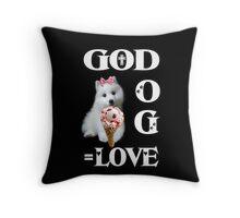 ✿♥‿♥✿GOD AND DOG = LOVE THROW PILLOW✿♥‿♥✿ Throw Pillow