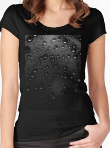 Droplets bokeh Women's Fitted Scoop T-Shirt