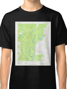 USGS TOPO Map Arkansas AR Indian Bay SE 258807 1967 24000 Classic T-Shirt