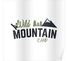 Mountain Camp Design Poster