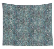 Navy Blue Paisley Wall Tapestry