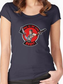 Hail to the King, Baby (Ash - Army of Darkness) Women's Fitted Scoop T-Shirt
