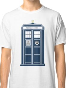 Blue Tardis, Doctor Who Police box Classic T-Shirt
