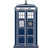 Blue Tardis, Doctor Who Police box Photographic Print