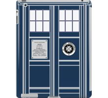 Blue Tardis, Doctor Who Police box iPad Case/Skin