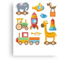 Baby And Kids Toys Canvas Print