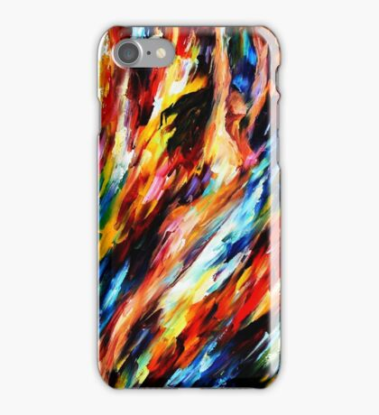 Woman Abstract Flying iPhone Case/Skin