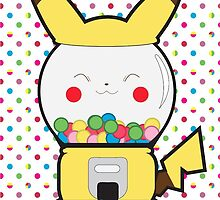 Pika Gumball Machine by juiceboxjay