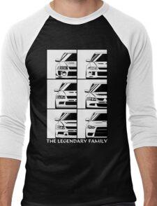 Mitsubishi Evolution. Legendary Family Men's Baseball ¾ T-Shirt