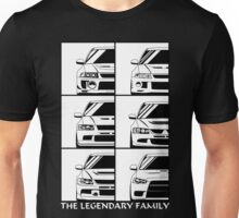 Mitsubishi Evolution. Legendary Family Unisex T-Shirt
