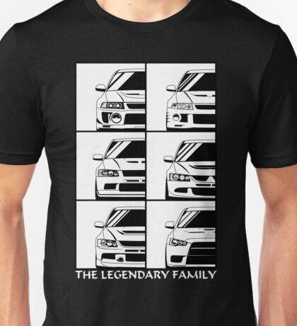 Mitsubishi Evolution. Legendary Family Unisex T-Shirt