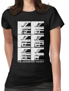 Mitsubishi Evolution. Legendary Family Womens Fitted T-Shirt