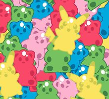 Pika Gummy Bears by juiceboxjay