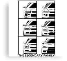 Mitsubishi Evolution. Legendary Family Canvas Print