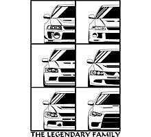 Mitsubishi Evolution. Legendary Family Photographic Print