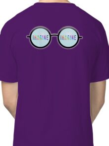 Imagine, Psychedelic, Round, Glasses, Classic T-Shirt