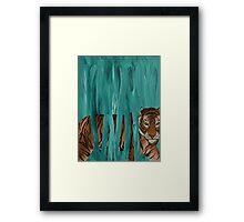 turquoise tiger Framed Print