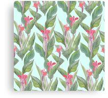 tropical flower canna Canvas Print