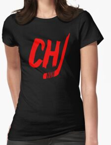 Chicago Blackhawks Red Womens Fitted T-Shirt