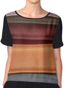 Coloured Suede Chiffon Top