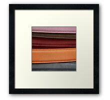 Coloured Suede Framed Print