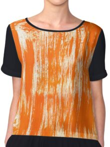 Orange Paint Brush Chiffon Top