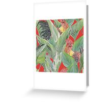 rooster pattern Greeting Card