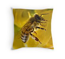 Black On Yellow Throw Pillow