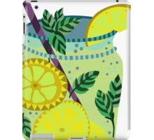 Lemonade in a jar illustration iPad Case/Skin