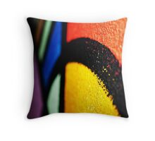 Coloured Paint Throw Pillow