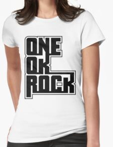 one ok rock text logo Womens Fitted T-Shirt