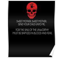 Skyrim Dark Brotherhood Black Sacrament T-Shirt Poster