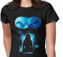 LISTEN Twelfth Doctor - Blue Womens Fitted T-Shirt