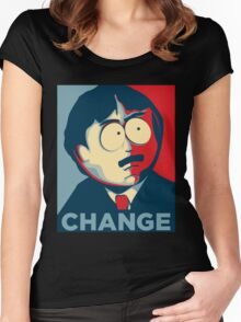 Randy Change - south park poster Women's Fitted Scoop T-Shirt