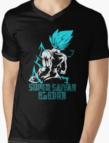 The DragonBall - Super SaiYan God Mens V-Neck T-Shirt