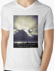 Ah-ha Moment in the Sky with Quote Mens V-Neck T-Shirt
