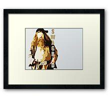 Swagrid Framed Print