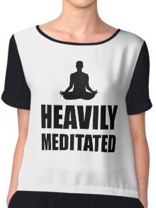 Heavily Meditated Chiffon Top