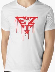 Eazy Target Red Spray Logo Mens V-Neck T-Shirt